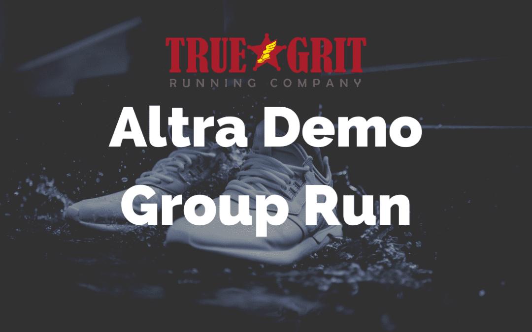 Altra Demo Group Run